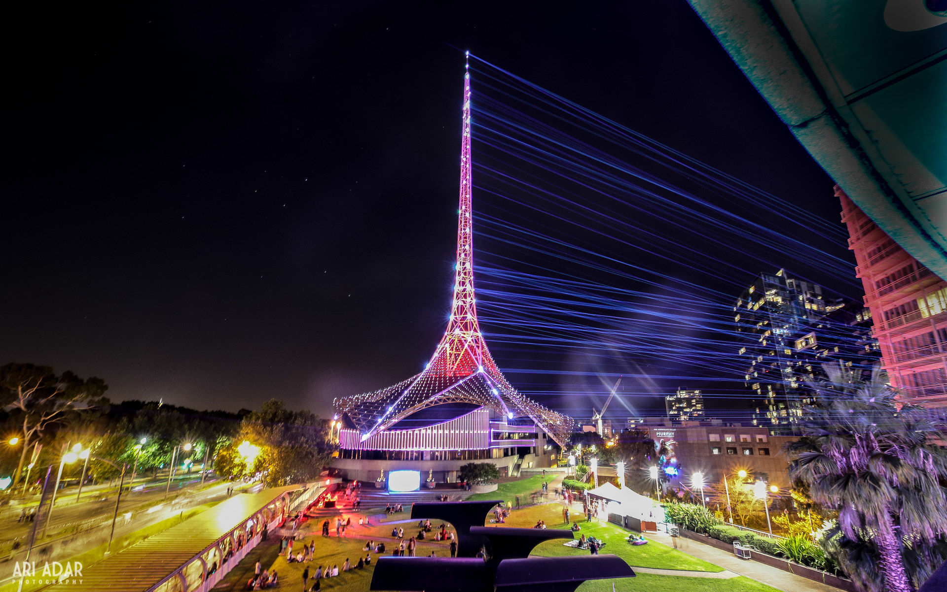 Arts Centre Melbourne, Laser mapping, White Night